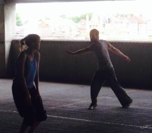 Adam Burton and Sonya Cullingford - Rehearsal shot